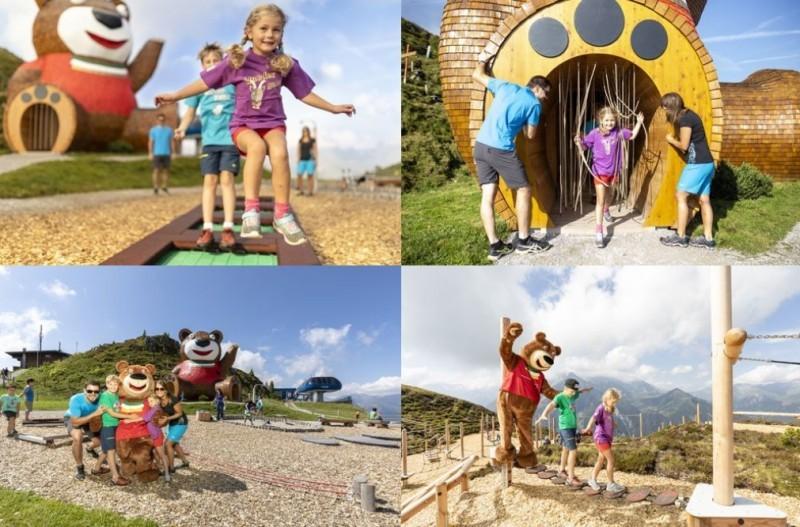 Vier Bilder von einer Veranstaltung für Kinder
