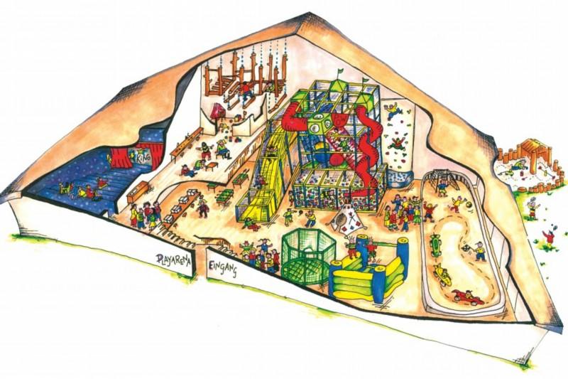 Plan von der Playarena