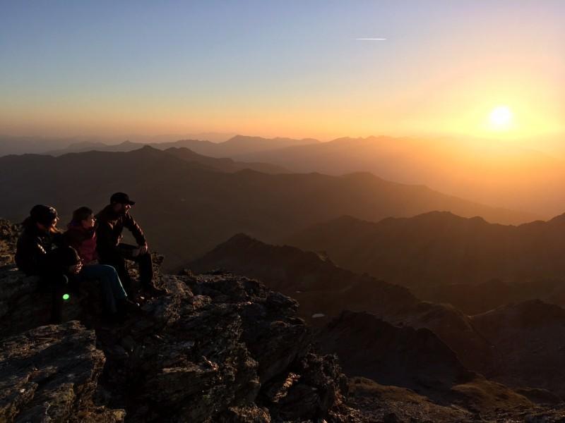 Sonnenuntergang am Berg
